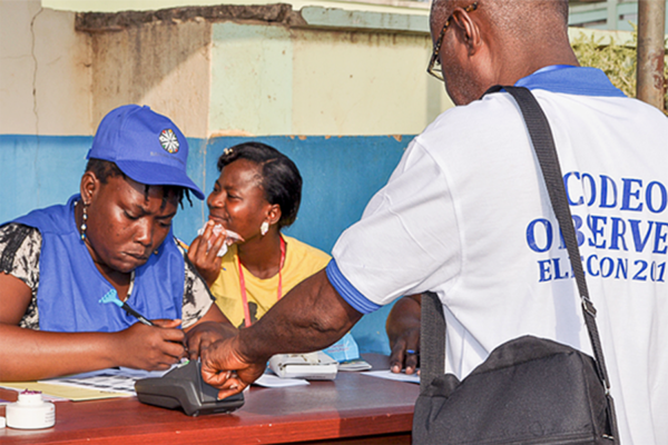 A Ghana election observer