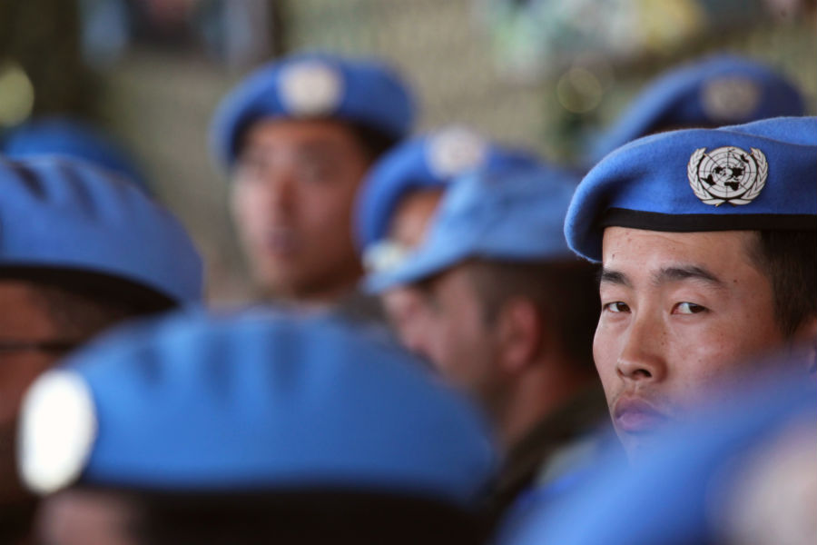 Chinese peacekeepers in the DRC