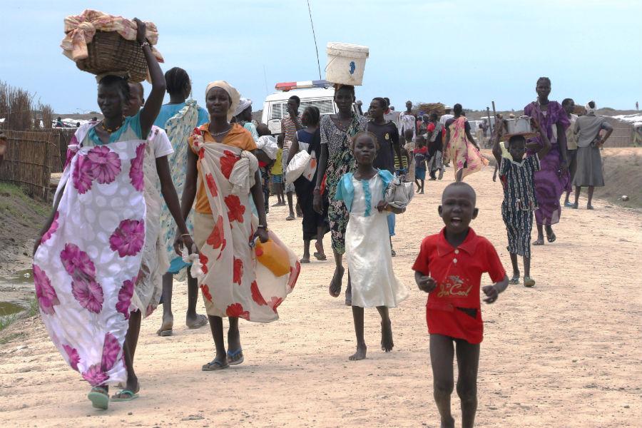Displaced in Bentiu South Sudan