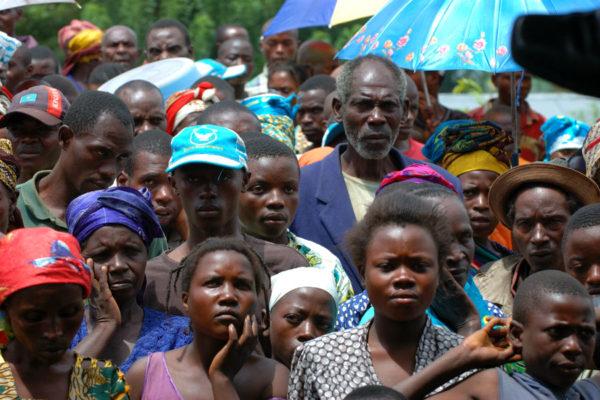 IDPs at Kiwanja camp in Rutshuru, North Kivu, DRC. Photo: Julien Harneis