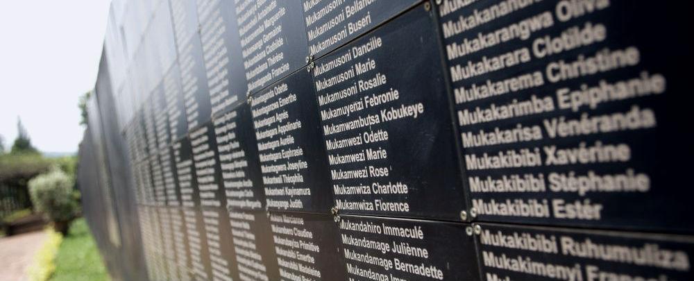 Memorial Wall at Kigali Genocide Memorial Centre (Photo: Richard Wainwright).