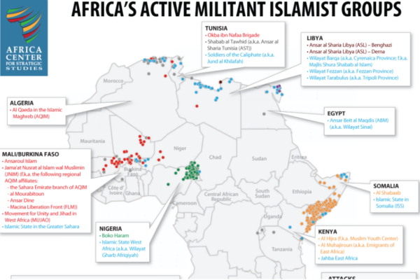 Africa's militant islamic groups - as of apr 2017