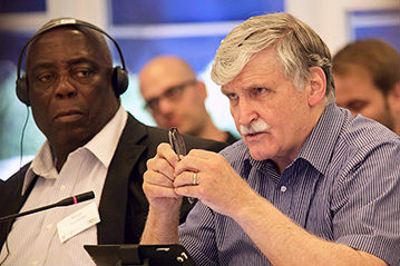 Henry Kwami Anyidoho (left) & Romeo Dallaire
