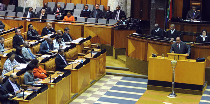 President Jacob Zuma replies to questions in Parliament. (Photo: GCIS)