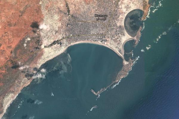 The port of Kismayo in southern Somalia