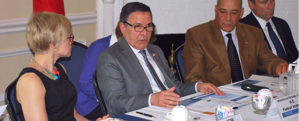 Tunisia's Minister of Defence visits the Africa Center for Strategic Studies