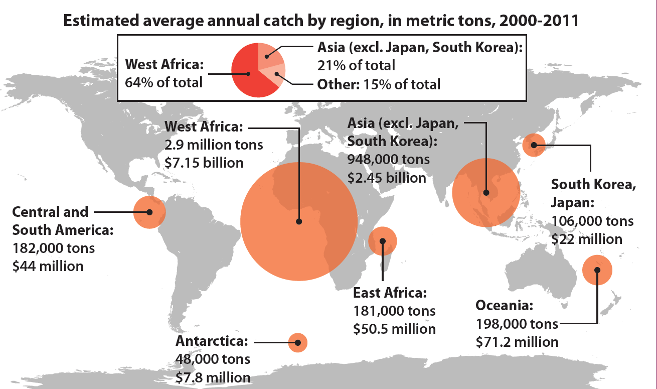 Where Chinese Vessels Fish