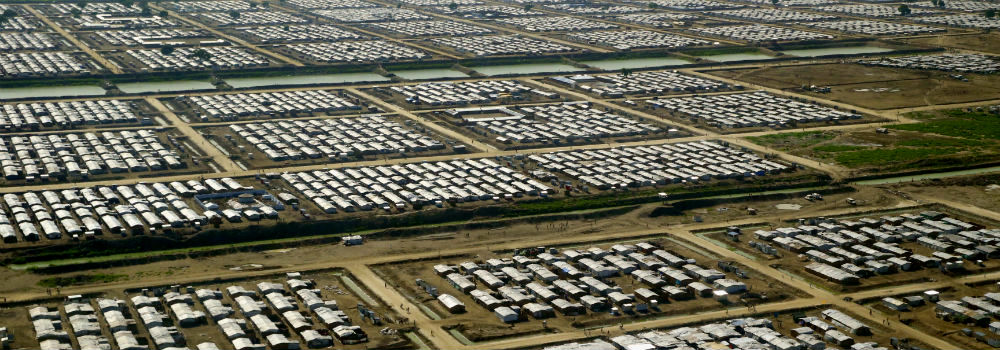 Aerial View of Bentiu Protection of Civilians Site, South Sudan