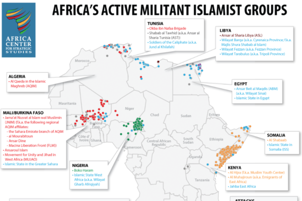 Africa's Militant Iislamic Groups as of June 2017 900x600
