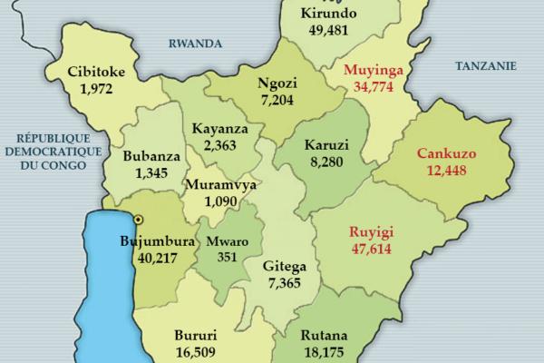 Origine des réfugiés burundais au Rwanda et en Tanzanie