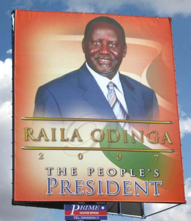 Raila Odinga political poster