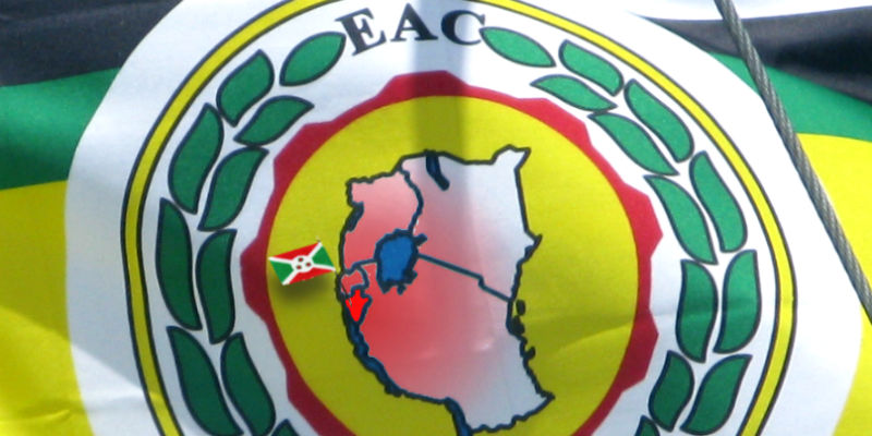 Burundi on EAC flag
