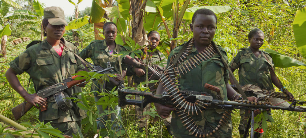 Female fighters from a Mai Mai group in North Kivu, DRC. Photo: Matchbox Media Collective.