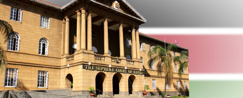 Kenya Supreme Court and flag