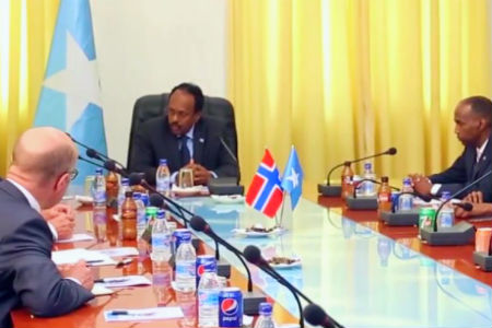 A delegation from Norway's foreign ministry visits Somalia. (Photo: CGTN Africa.)