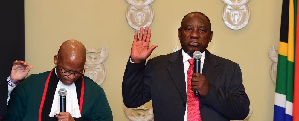 Cyril Ramaphosa swearing in