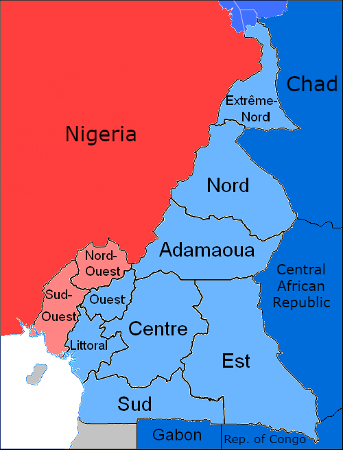 Language map of Cameroon