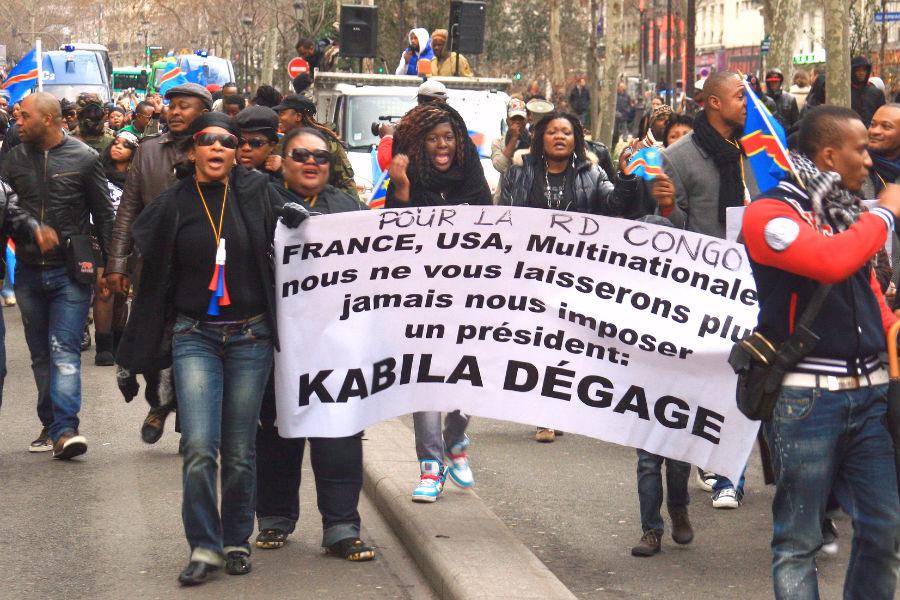 Congolese protest in Paris