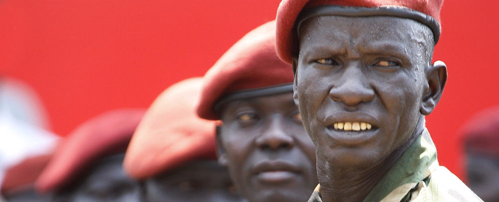 Members of the South Sudan presidential guard. (Photo: Steve Evans.)