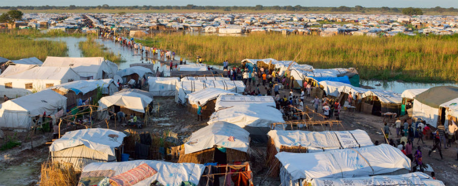 The Protection of Civilians site in Bentiu, South Sudan