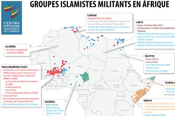 Groupes islamistes militants en Afrique - avril 2018