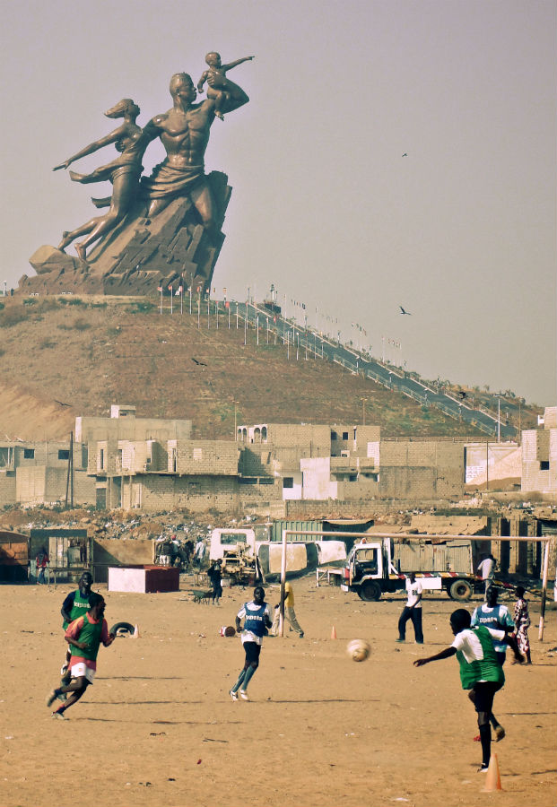 Playing soccer in Senegal. (Photo: Jeff Attaway)