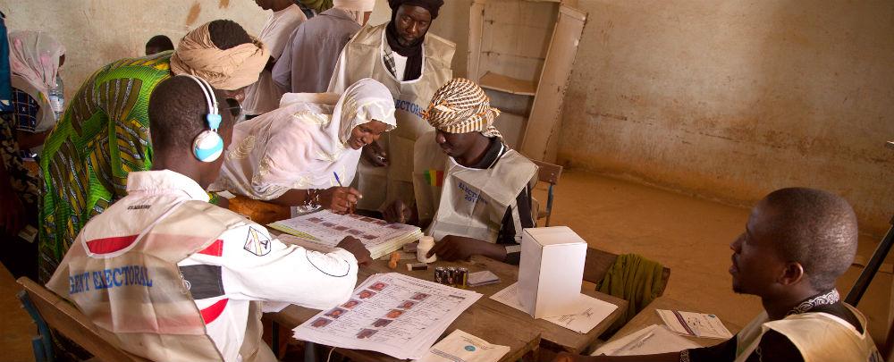 A voting center in Mali. (Photo: MINUSMA/Blagoje Grujic)