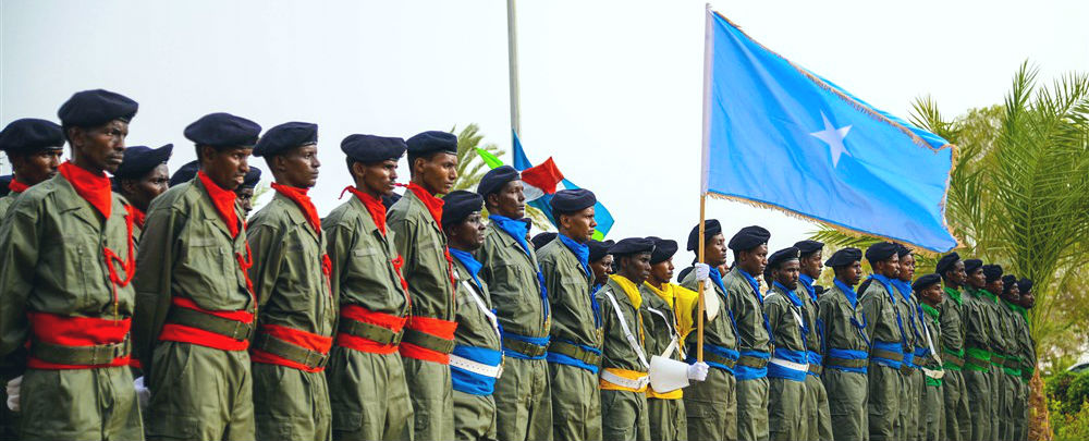Somali graduates of a three-month training program in policing skills. (Photo: US Air Force/Benjamin Raughton)