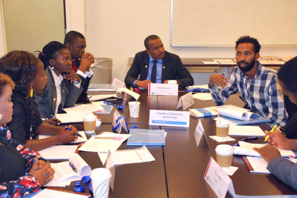 YALI Mandela Fellow participants in discussion 600x400