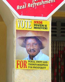 Museveni campaign poster