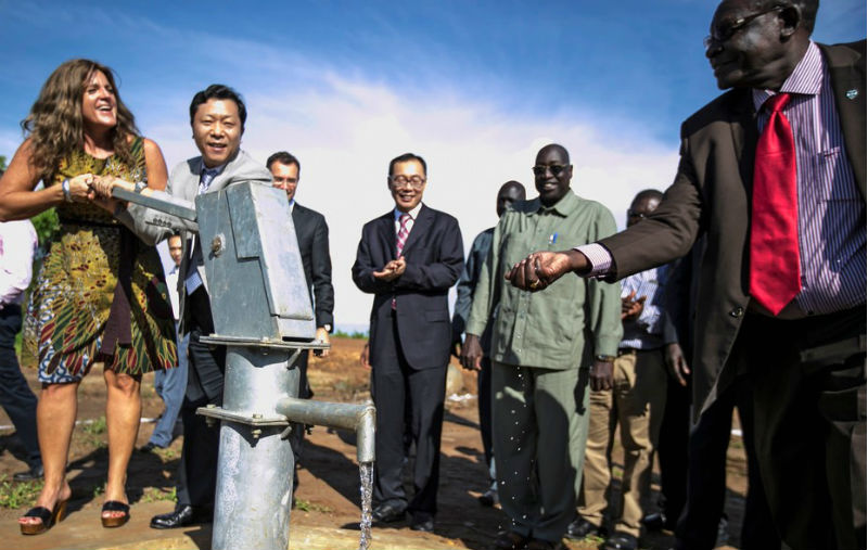 Handover ceremony of a Chinese-donated protection of civilians site in South Sudan. Photo: UN/Isaac Billy)