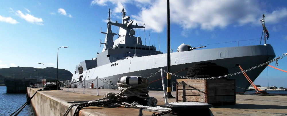 A South African frigate