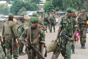 Soldiers of the Congolese National Armed Forces (FARDC)