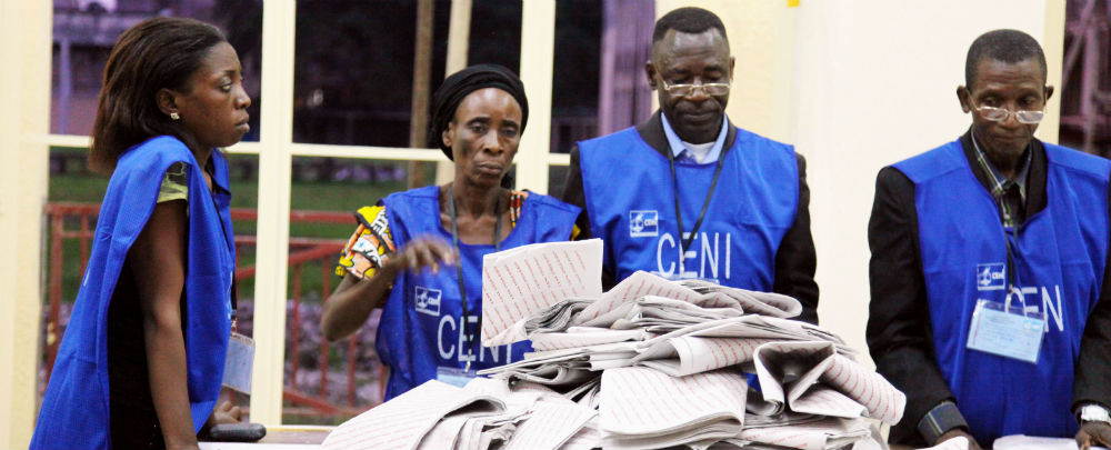 DRC election officials prepare to count ballots in the 2011 election. (Photo: MONUSCO/Myriam Asmani)