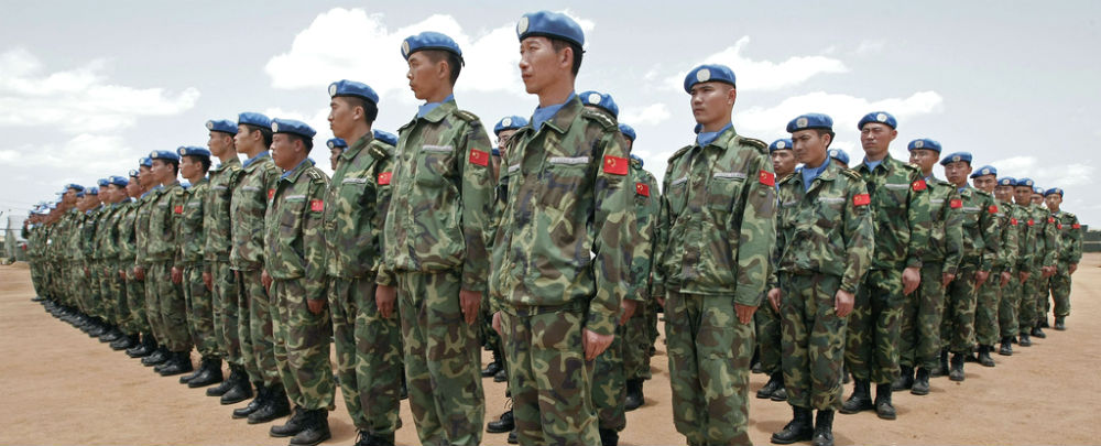 Chinese peacekeepers in Darfur, Sudan. (Photo: UN/Stuart Price)