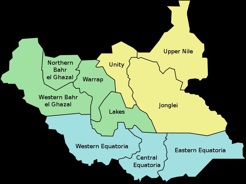 South Sudan's 10 states prior to reorganization. (Image: Danielemezzalira)