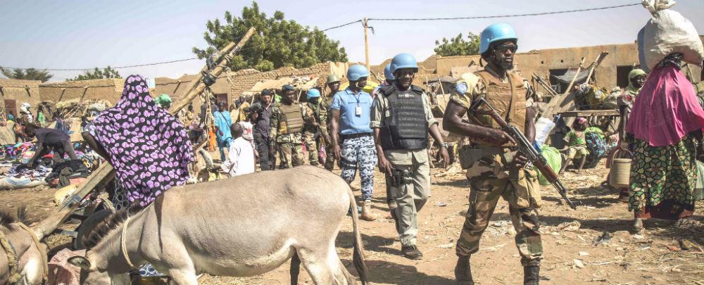 A UN patrol in Mopti Mali