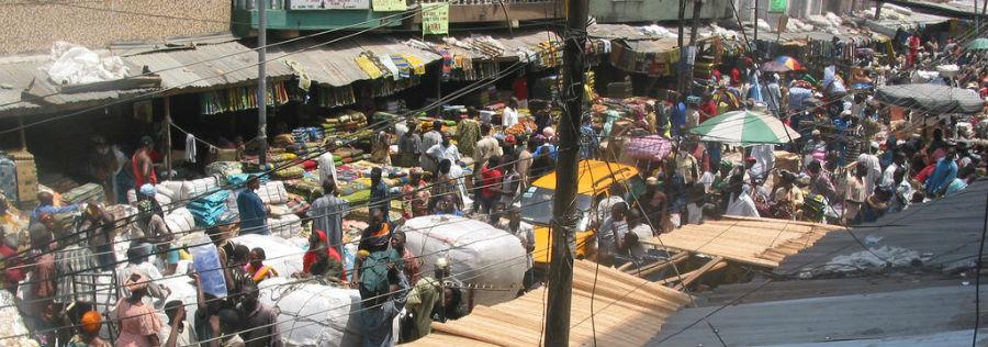 Une rue à Lagos, au Nigeria.