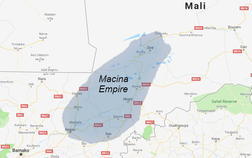The Macina Empire, c. 1830