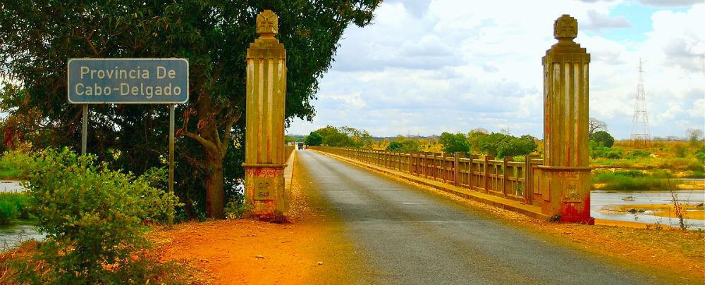 Cabo Delgado boundary bridge, northern Mozambique