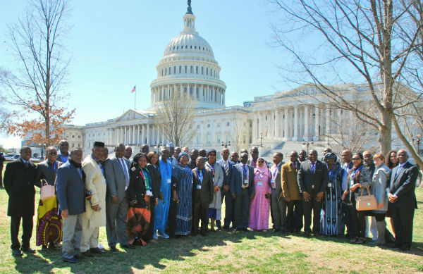 Group photo on Capitol Hill - 2019 African Parliamentarian Security Forum