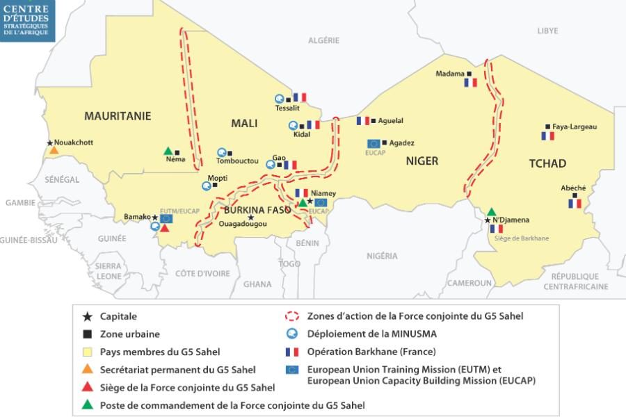 """Résultat de recherche d'images pour """"Aperçu des réponses sécuritaires régionales au Sahel"""""""