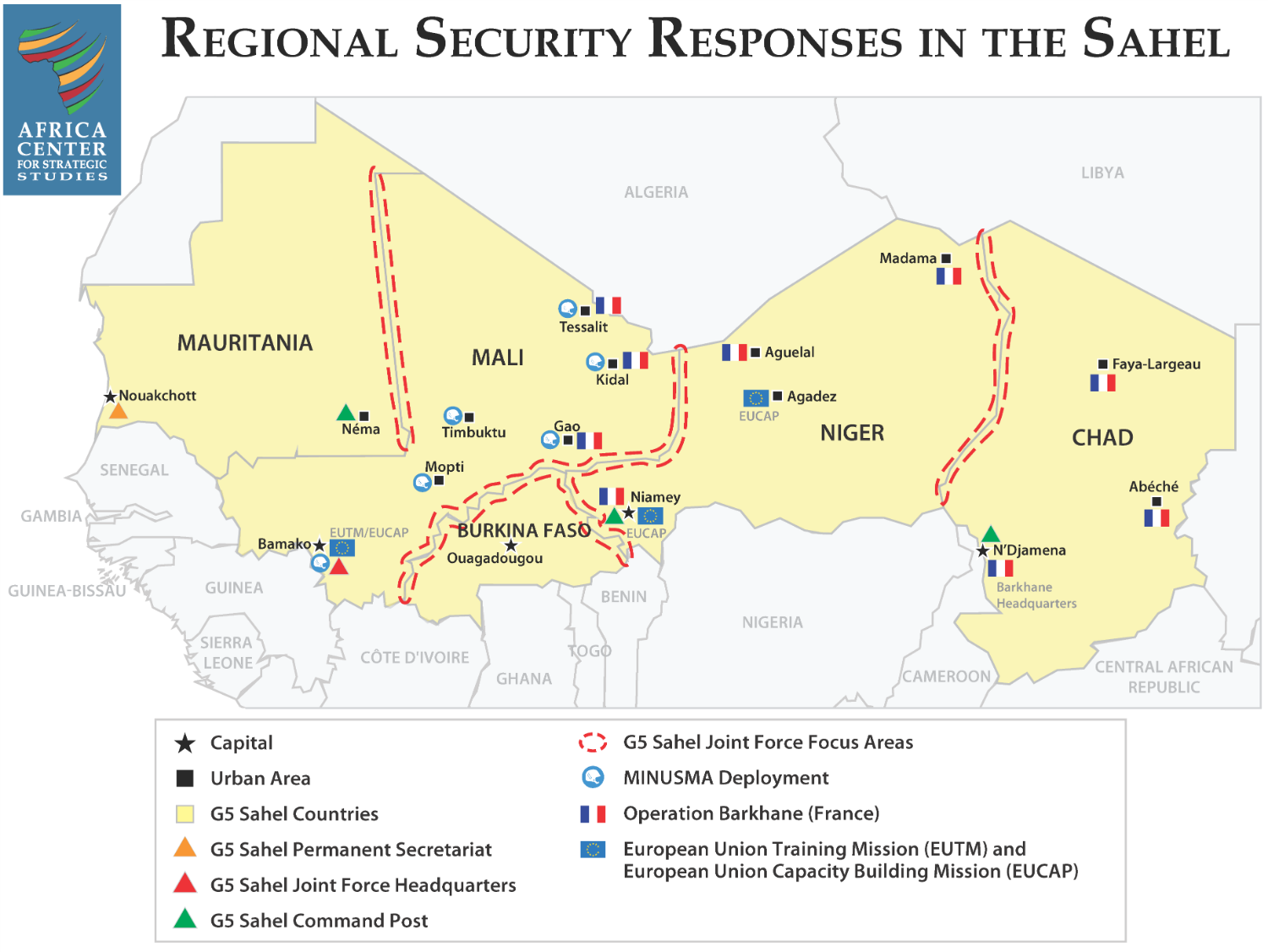 Security Responses in the Sahel Map