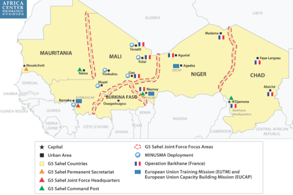 Security Responses in Sahel Map
