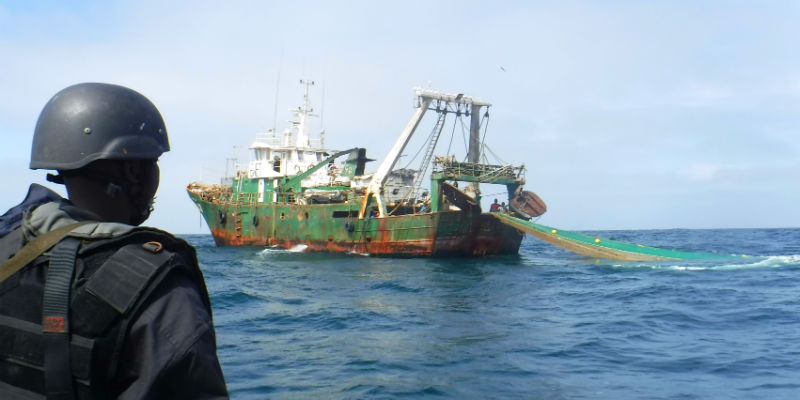 Senegalese navy personnel board a fishing vessel 800x400