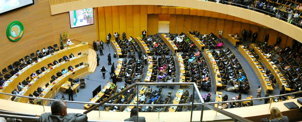 A summit at the African Union