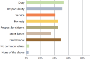 Question 15. What are some common values that describe the attitudes of your service?