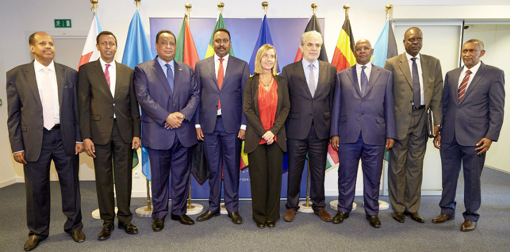 A meeting of foreign ministers from IGAD member states, with representatives of the European Union. (Photo: EEAS)