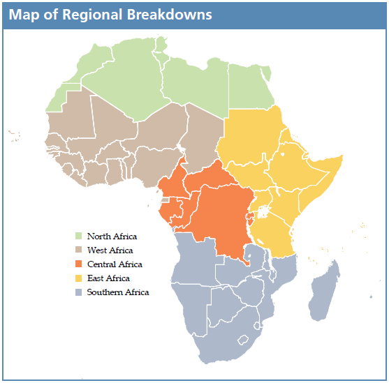 Map of Regional Breakdowns - Assessing Attitudes report