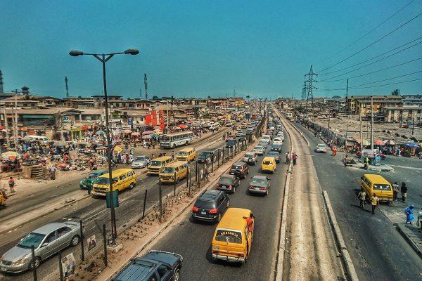 Road north of Lagos, Nigeria.